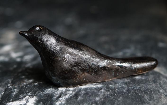 Earthenware blackbird