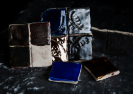 Earthenware glaze samples
